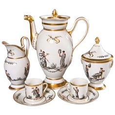 An Early 19th Century French Paris Porcelain Coffee Set For Sale ...
