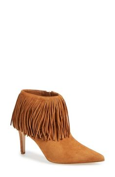 Sam Edelman 'Kandice' Fringed Suede Pointy Toe Bootie (Women) available at #Nordstrom