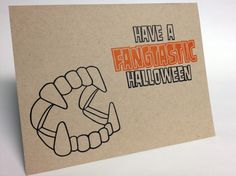 Halloween Card #Letterpress
