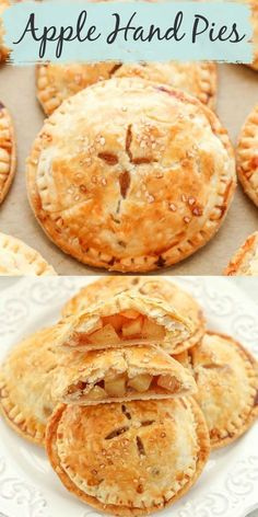 These delicious apple hand pies from Live Well Bake Often feature a sweet apple pie filling inside a buttery, flaky pie crust. Honestly, what is not to love inside a flaky crust with an amazing filling inside? These apple hand pies are so easy to make and are perfect for a fall dessert! #dessert #fall #falldessert #applehandpies #handpies #apple #applerecipesdessert Mini Desserts, Apple Dessert Recipes, Fall Desserts, Baking Recipes, Delicious Desserts, Pastry Recipes, Baking Ideas, Apple Hand Pies, Fruit Hand Pies