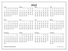 Calendario 2019 En Blanco Para Imprimir Agenda2019 Calendar