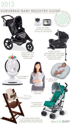 Now that I have been back in the suburban life for almost a month I thought it high time to update the Suburban Baby Registry Guide. Baby Blog, Baby Time, Baby Registry, Gifts For Kids, Nursery Decor, Baby Strollers, Car Seats, Parenting, Children
