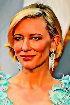 "Saatchi Art Artist ACQUAeLUNA Art; Painting, ""28- Cate Blanchett XXVIII."" #art Cate Blanchett, Original Paintings, Original Art, Acrylic Spray Paint, Portrait Art, New Art, Saatchi Art, Canvas Art, Art Deco"