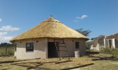 Thatched gazebo and houses by the best Thatching company in Zimbabwe 0773974777 or 0772389998 – Framework Thatchers Zimbabwe Village House Design, House Front Design, Round House Plans, Small House Plans, Thatched House, Thatched Roof, Hut House, Farm House, Small Gazebo