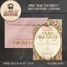Personal Use :: Hybrid :: The Pink Mad Tea Party Invitation