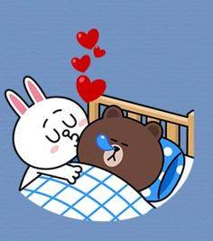 Connie and Brown best books of all time - Books Cute Love Pictures, Cute Love Gif, Cute Couple Cartoon, Cute Cartoon, Best Books Of All Time, Cony Brown, Bunny And Bear, Line Friends, Cute Chibi
