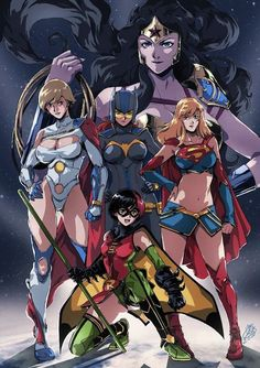 Female Superheroes Get Anime-Style Makeovers