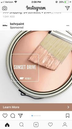 Behr Paint - Sunset Drive For bedroom Room Colors, Wall Colors, House Colors, Colours, Interior Paint Colors, Paint Colors For Home, Bher Paint Colors, Small Bathroom Paint Colors, Pink Paint Colors