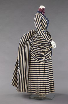 This dress from between 1885 and 1888 would have been worn for tennis, yachting or general seaside walking