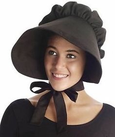 63e4e53e062742 Image result for bonnet hats Pioneer Costume, Black Costume, Hats Online, Costume  Hats
