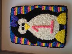 Penguin Cake for 1st Birthday