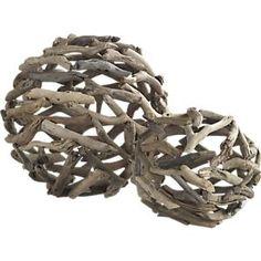 Driftwood spheres, crateandbarrel.com