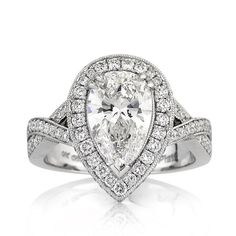 Back to Post :The Engagement Rings Pear Shaped Design - Check out more pear shaped engagement rings at MyPearShapedEngagementRings.com