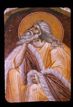 The Holy Prophet Elias ( source ) The meaning of Holy Scripture reveals itself gradually to the higher senses of the more discern. Byzantine Icons, Byzantine Art, Catholic Religion, Art Icon, Orthodox Icons, Painting, Fictional Characters, Saints, Fresco