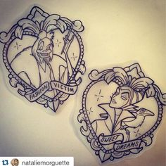 """Disney villainesses by Natalie Morguette. To get booked in pop down to the studio or email """"skinsandneedles@http://goo.gl/aHyOE"""""""