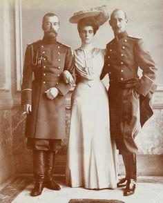 Tsar Nicholas II, Grand Duchess Helena and Prince Nicholas of Greece