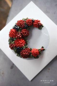 Dahlia flower cake #2. soocake : 네이버 블로그