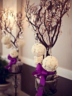 4 x ALWAYS SUNNY Hydrangea Kissing Balls - Purple | eFavorMart
