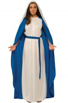 Bible costumes really easy to make used flat sheets folded in with this beautiful gown youll be perfect to play the role of baby jesus motherstume featuresdress with solutioingenieria Gallery