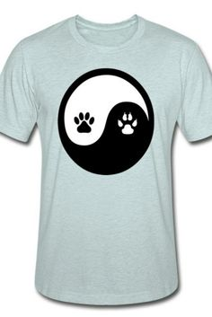 This YinYang Unisex Heather Prism T-Shirt is a symbol of cute, funny, cool, unique, and happiness to wear. Modern and handsome, this cat art is truly the perfect gift for any cat lover in your life.