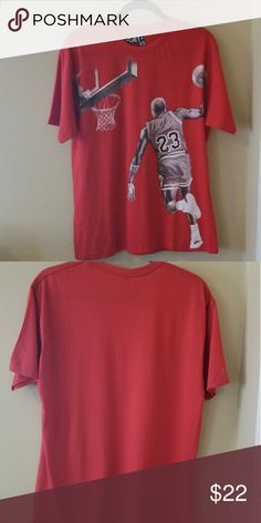 969e6de0b3a4f3 NWOT Get Famous US Tee 100% Cotton Standard Fit Red Michael Jordan tee by  Get
