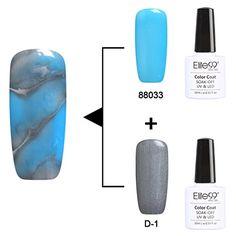 Elite99 2PCS Soak Off UV LED Dizzy Color Changeable Gel Polish Nail Art Varnish 10ml 88033 + Base Color Gel ( D-1 )