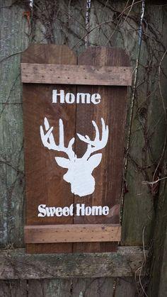 Home Sweet Home DEER Buck Head Hunter Cabin by UniquePrimtiques