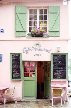 Challenge yourself with this Fachada comercial em Montmartre, Paris, França ! Restaurants In Paris, Paris Travel, France Travel, Places To Travel, Places To Go, Travel Things, Beste Hotels, I Love Paris, Pink Paris