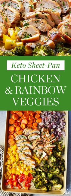 Keto Sheet-Pan Chicken and Rainbow Veggies #purewow #recipe #hack #food #easy #ketogenic #healthy #cooking