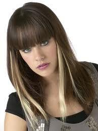Blond streak underneath hair