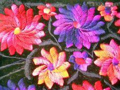 New Pink Purple Red Flowers Purse Threaded Over Velvet Zipper Inside Long Strap #NoBrand #MessengerCrossBody