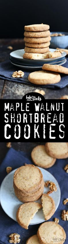 Delicious Shortbread Cookies with Walnuts and Maple Syrup | Bake to the roots