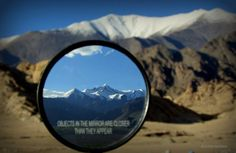 Objects in the mirror are closer than they appear!!!! :)  Stok Kagri glacial range in focus. #Leh #ladakh #stok #glacier #travel #tours #explore #adventures #himalayas #mountains To know more, write to us at- info@himalayantravelstudio.com or visit www.himalayantravelstudio.com