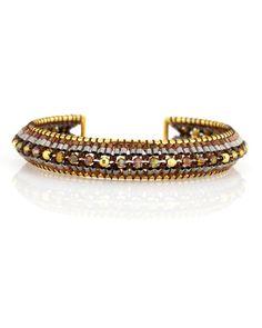 Miguel Ases - Hessonite Quartz Vermeil Mirror Bracelet