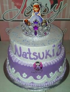 Princess Sofia Party, Birthday Cakes, Cake Ideas, Snow Globes, Mario, Disney, Girls, Characters, Projects