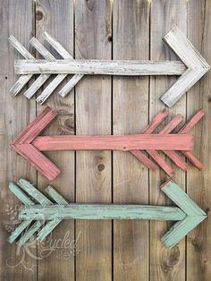Reclaimed Wood Arrow Nursery Room Rustic by OurRecycledLife