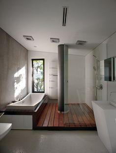Water Patio House / Drozdov & Partners © Andrey Avdeenko Badezimmer