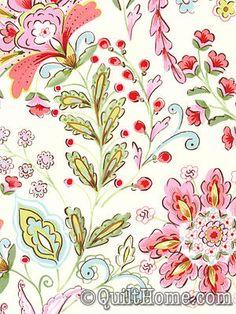 Pretty Little Things PWDF133-Cream Fabric by Dena Designs