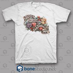 New Kings Of Leon Beautiful War Rock Band Men/'s White T-Shirt Size S to 3XL