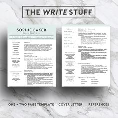 Creative Resume Template For Word  Pages    Page Cv