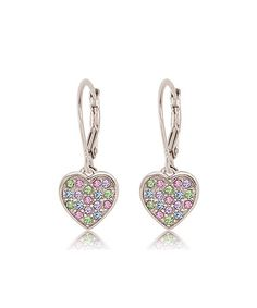 Love this Crystal Heart Drop Earrings Made With SWAROVSKI ELEMENTS by Chanteur Designs on #zulily! #zulilyfinds