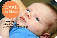 Wake to Sleep ~ My Baby Sleep Guide - Your baby sleep problems solved! This website has the most information about baby and toddler sleep! Great site!