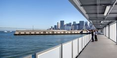 Pier 27 - Rendering, View of City from deck.