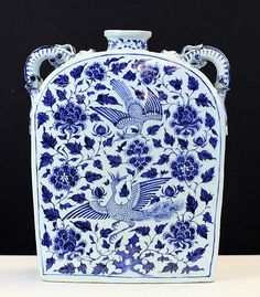 """BLUE AND WHITE PORCELAIN SQUARE POT 16th Century. 12*4*15.5"""""""