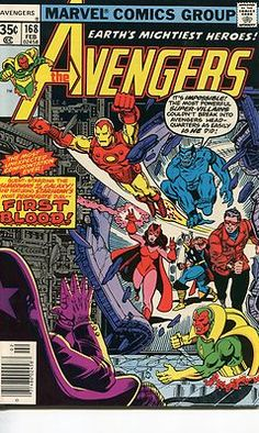 #eBay #Auction Vintage #Stan #Lee #Avengers #168 #Marvel #Comic Book #Iron #Man #Captain #America #Thor #Vision #Beast #Scarlet #Witch Guardians of the Galaxy Appearance