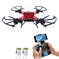 Drone with HD Camera, Potensic® F183W 4CH Six-Axis RC Quadcopter Drone 2MP Camera Helicopter FPV 2.4GHZ Phone Quadcopter with WiFi, 360 Degree Rollover - http://www.midronepro.com/producto/drone-with-hd-camera-potensic-f183w-4ch-six-axis-rc-quadcopter-drone-2mp-camera-helicopter-fpv-2-4ghz-phone-quadcopter-with-wifi-360-degree-rollover/