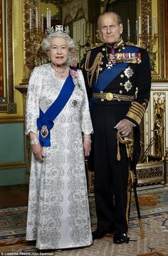February 6, 2012: The new portrait of  Queen Elizabeth and Prince Philip by photographer John Swannell that has been released on the 60th anniversary of Her Majesty's accession to the throne