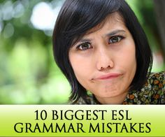 10 Biggest ESL Grammar Whether they are beginners, who are just starting to grasp the basics, or advanced students who can speak quite fluently, ESL learners make grammar mistakes. Teaching Grammar, Teaching Tips, Teaching English, English Grammar, Esl Lessons, English Lessons, Learn English, Coaching, Esl Resources