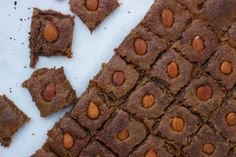 Speculaas brownies recept - I Love Health Healthy Pastry Recipe, Pastry Recipes, Cake Recipes, Vegan Baking, Healthy Baking, Healthy Sweets, Healthy Snacks, Healthy Recipes, Vegan Brownie