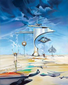 Ora Tamir's oil paintings have a futuristic quality and haunting beauty.